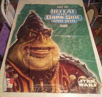 Star Wars Episode 1 KFC Promotional plasticPoster EXTREMELY RARE! ONE OF A KIND!