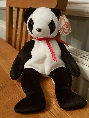 Ty Beanie Baby Fortune The Panda - Very Rare With Date Error