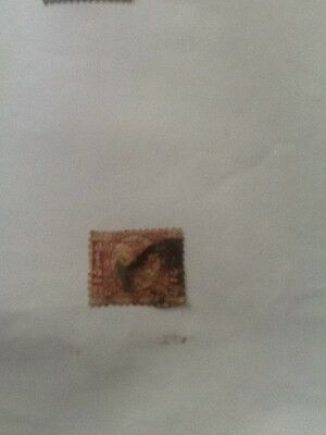 1/2 Penny Red Gb Victorian Stamp-Used