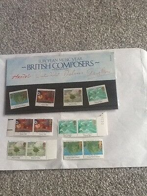Royal Mail Mint Stamps_European Music Year-British Composers_1985+Extra Mint St