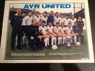 1970s A4 Football SHOOT magazine TEAM picture/poster Ayr United