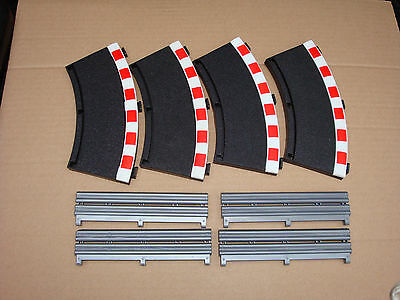 4 X Scalextric Inner Borders/barriers For Radius 2 Curves C8225, 45 Degrees Each