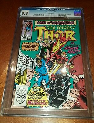 Thor #412 CGC 9.8 white pages first full appearance New Warriors