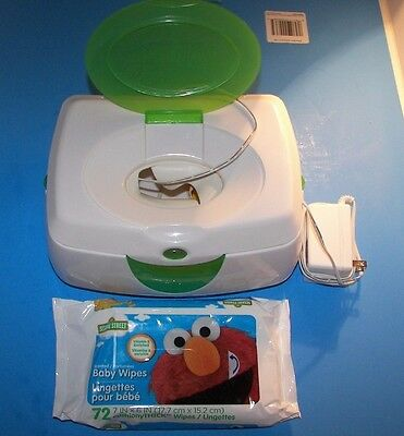 Gently Used Munchkin Warm Glow Baby Wipe Warmer Cleaner/Tested w/Bonus Wipes