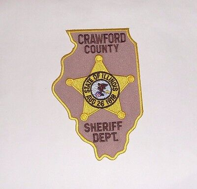 Patch Police Crawford County Sheriff Department, Illinois, USA