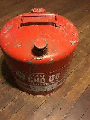 Vintage Eagle 6 Gallon Sno Go Snowmobile Gas Can  Model 509