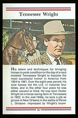 Tennessee Wright True Value Trainer Kentucky Derby Horse Racing Preakness