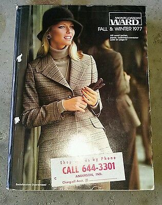 Montgomery Ward 1977 Fall and Winter Catalog Anderson Indiana Sticker on Cover