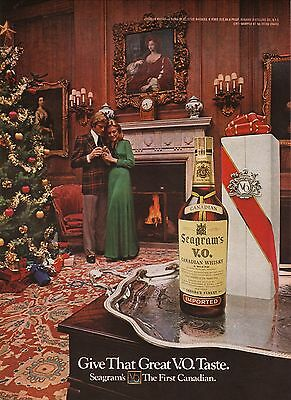 1972 Seagram's VO Canadian Whiskey Advertisement--Christmas