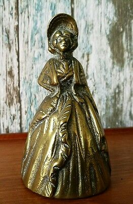 Vintage Solid Brass Lady Bell