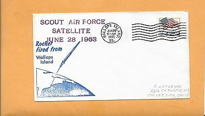 Rocket Fired From Wallops Island Scout Air Force Satellite Jun 29,1963