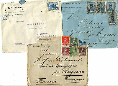 Argentina 1925-27. 3 covers. Look photo.