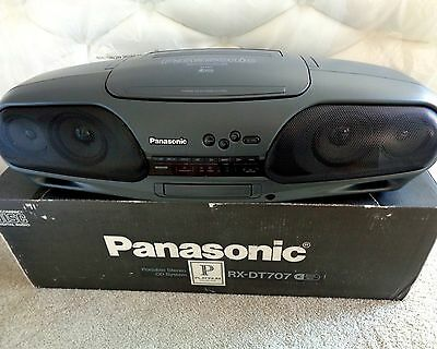 PANASONIC Vintage Portable Stereo Dual Deck CD Player 4.4 PDS Bi-Amp—One Owner