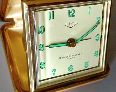 Vintage FISHER West Germany Travel Alarm Clock Original Condition/Original Owner