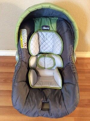 CHICCO Keyfit 30 Infant Car Seat Cushion Cover Canopy Set Green Neon Silver