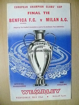 1963 European Cup FINAL BENFICA v AC MILAN, 22nd May (Org*)