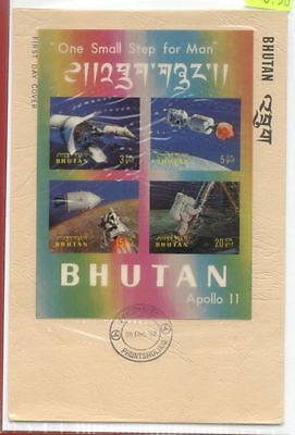 Bhutan Topic Space Moon Landing Apollo 11 3-D S/S M/S on FDC Cover