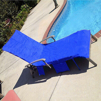 Beach Chair Towel Microfiber Lounge With Pockets Sunbathing Quick Drying Summer