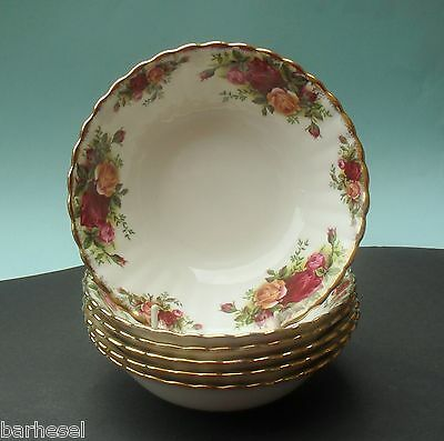 Six Royal Albert Old Country Roses Cereal Dishes