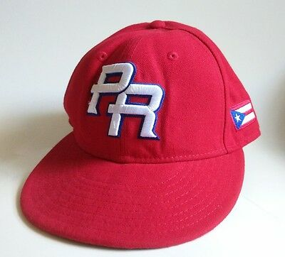 af752face NEW ERA WBC World Baseball Classic Puerto Rico Fitted Red Cap Hat 7-1/8 MLB