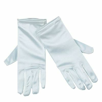 Childs  White Satin Gloves Bridesmaid/flower /dance