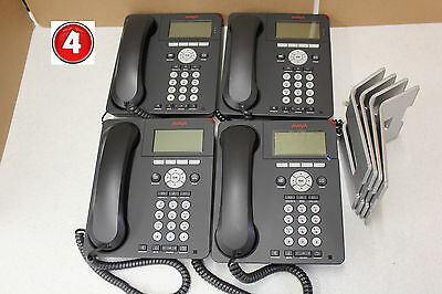 (Lot of 4) Avaya 9620L IP VOIP Business Office Phones 0736-09-1664 With Stand