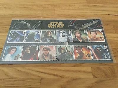 STAR WARS™ 12 Characters Unmounted Mint Stamps Set - UK 2015 Sealed.