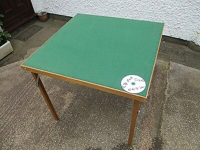 Folding Baize Top Games Table