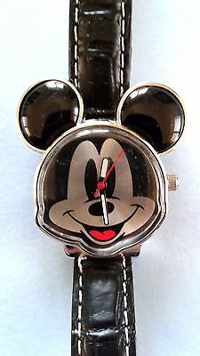 Vintage Mickey Mouse Ears Japan Movement Ladies Charm Watch