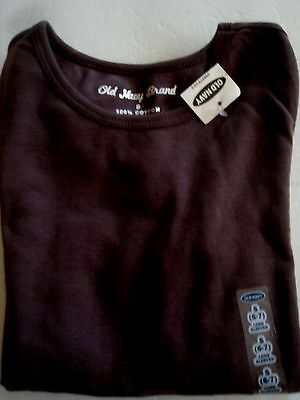 Girls Old Navy Shirt Brown Long Sleeves Cotton Size 6/7 New