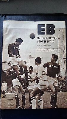 Hungary vs Soviet Union USSR 1968 Euro quarter-final programme and newspaper