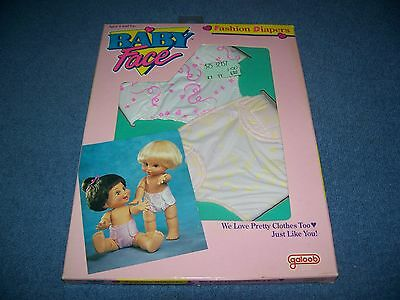 Vintage Baby Face Doll Fashion Diapers by Galoob