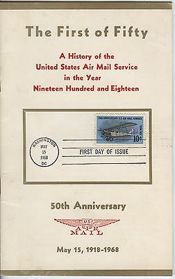 History of the United States Airmail Service Book With FDI Stamp Unusual Item