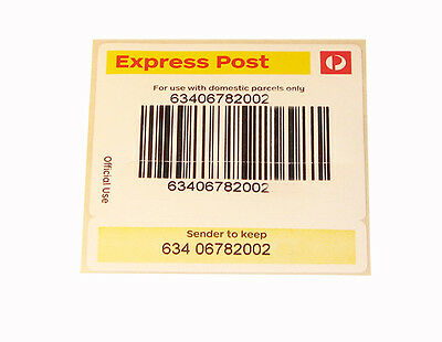Australia Express Post Tracking Labels: Buy 25 + 1 Free