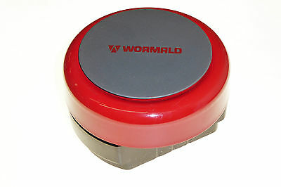 Electronic bell EN54-3 fire alarm 6 inch round red metal 24V DC Wormald 24V DC