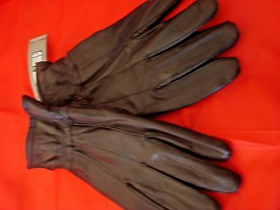 Mens Covington Leather Gloves Black Data Touch Compatible Size X L New