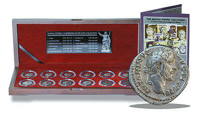 Roman Empire Collection: Box of 12 Silver Coins from Imperial Rome Display Box
