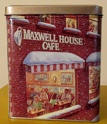 Maxwell House Cafe Tin –Collectible Cappuccino Canister