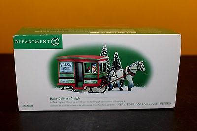 Dairy Delivery Sleigh Dept. 56 New England Village Item #56622 - Retired W/Box
