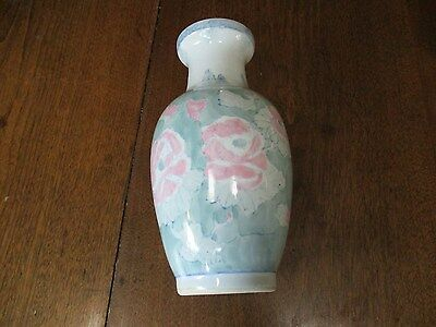 """Vtg 12"""" Tall Colorful Famille Rose Porcelain Vase, Made In China-Factory Marked"""