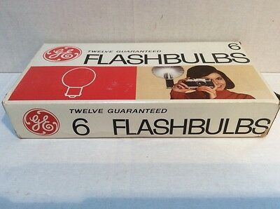 "GENERAL ELECTRIC #6 FLASHBULBS  (12 Bulbs) Clear ""Read More"""