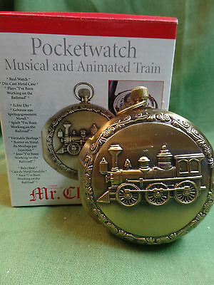 Mr. Christmas Train Pocketwatch Musical and Animated