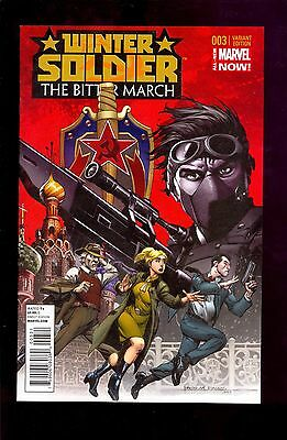 Winter Soldier Bitter March #3  1:50 Variant  Uncirculated Nm Copy Comic Kings