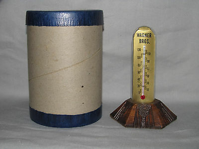 "Vintage Glass Dome Advertising Thermometer ""Wagner Funeral Home"" Streator, IL"