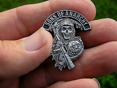 SONS OF ANARCHY BIKER VEST PIN Metal BADGE *NEW* Suit Harley Davidson Outlaw