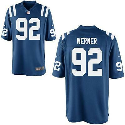 Nike NFL Indianapolis Colts Bjoern Werner #92 Football Jersey,Royal Blue,Size M