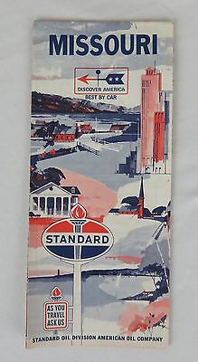 Standard Oil Road Map of Missouri 1966 Edition