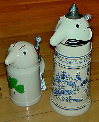 Schultz & Dooley Beer Steins Set by Webco (Utica Club) Made in Germany 1959