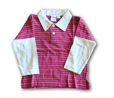 BABY WONDER Pink Long Sleeve Polo Shirt ~ Size 0 ~ New