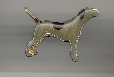 Vintage Long Tail Pointer old old enamel pin